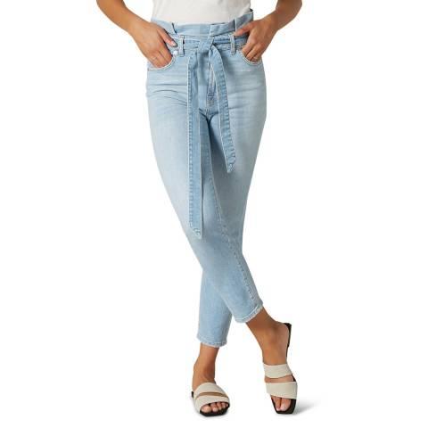 7 For All Mankind Light Blue Slim Paperbag Stretch Jeans