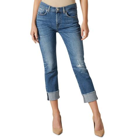 7 For All Mankind Blue Relaxed Capitola Luxe Jeans