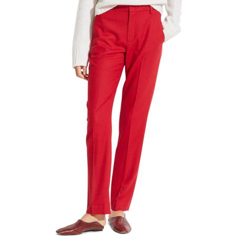 Vince Red Tailored Trousers