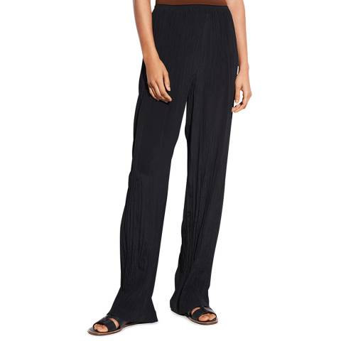 Vince Black Crinkle Pull On Trousers