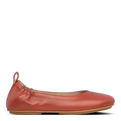 FitFlop Dark Bronze Allegro Leather Ballerina