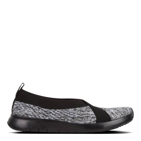 FitFlop Black Mix Artknit Ballerina Slip On Shoes