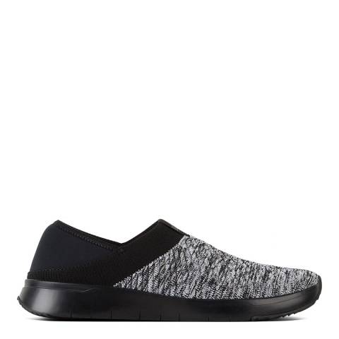 FitFlop Black Mix Artknit Textile Trainers