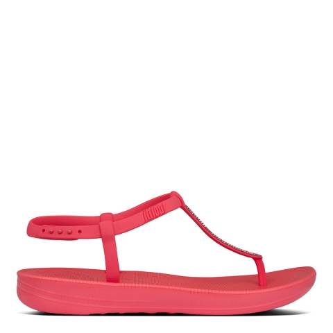 FitFlop Hot Pink Iqushion Sparkle Back Strap Sandals