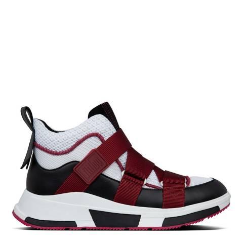 FitFlop Fuchsia/Cream/Black Andrea Adjustable Strap Sneakers