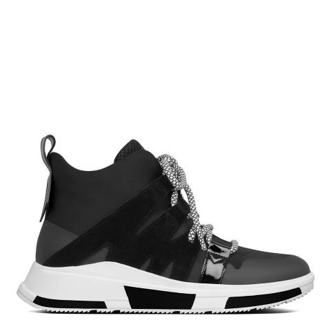 FitFlop Black Carita High Top Sneakers
