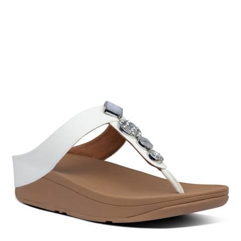 FitFlop Beige Fino Circle Toe Thong Sandal
