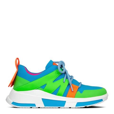 FitFlop Blue Multi Carita Neon Sneakers