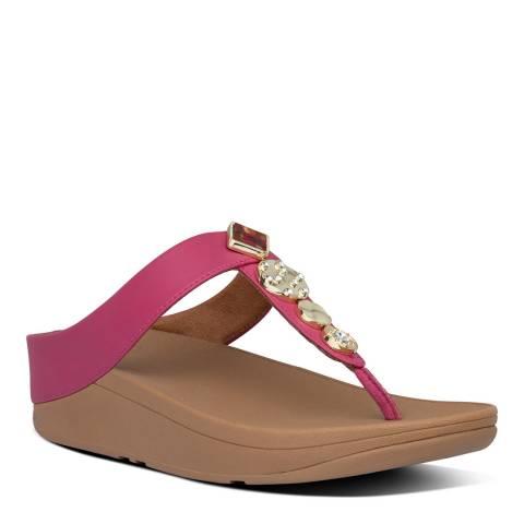 FitFlop Fuchsia Fino Circle Toe Thong Sandal