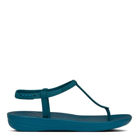 FitFlop Sea Blue Iqushion Splash Back Strap Sandals