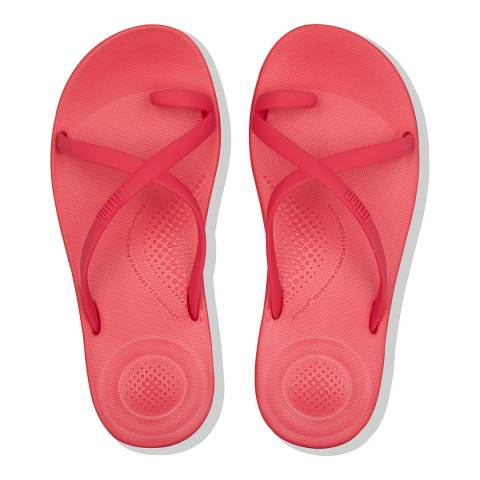 FitFlop Hot Pink Iqushion Wave Cross Slides