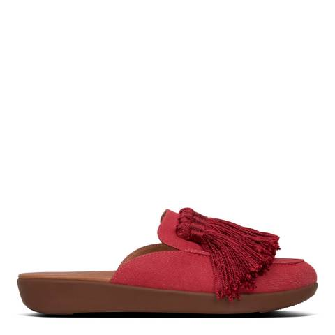 FitFlop Red Serene Tassel Mules