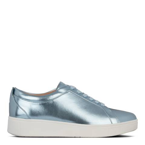 FitFlop Ice Blue Metallic Rally Trainers