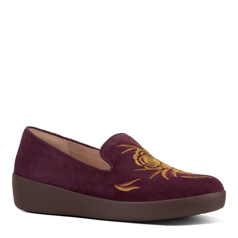 FitFlop Berry Audrey Baroque Smoking Loafers