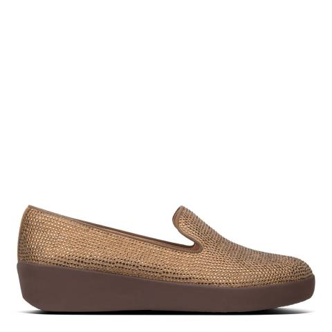 FitFlop Bronze Audrey Shimmercrystal Loafers