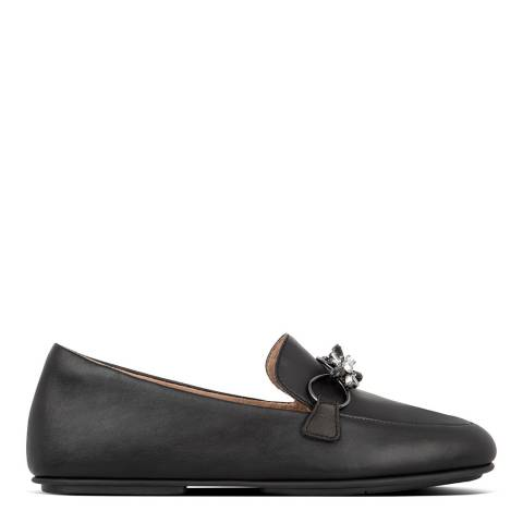 FitFlop All Black Lena Blossom Loafers