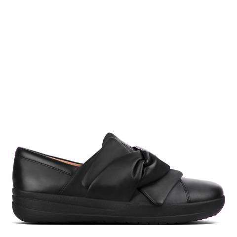 FitFlop Black F Sporty II Bowy Slip On Sneakers