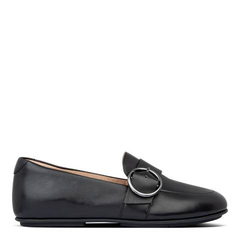FitFlop All Black Lena Buckle Loafers