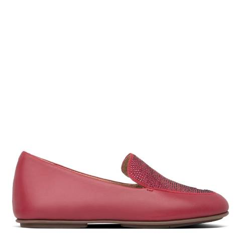 FitFlop Dark Red Lena Crystal Loafers