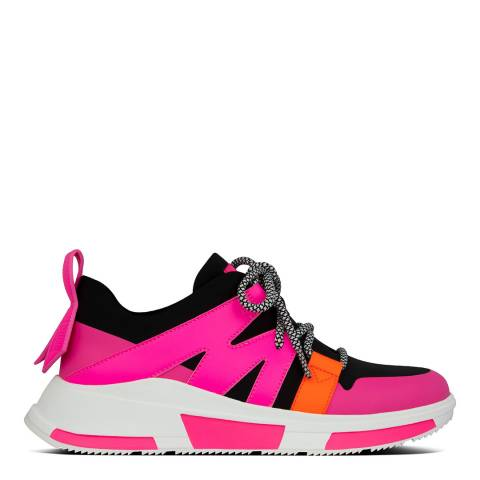 FitFlop Black/Pink Mix Carita Neon Sneakers