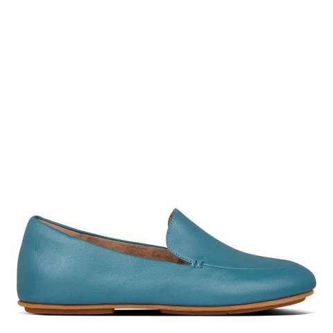 FitFlop Turquoise Lena Metallic Loafers