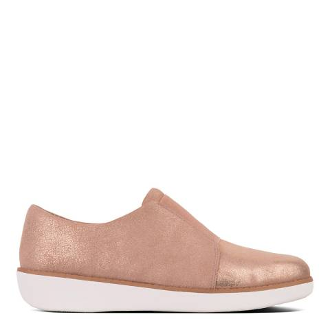 FitFlop Pink Laceless Derby Glimmersuede Shoes