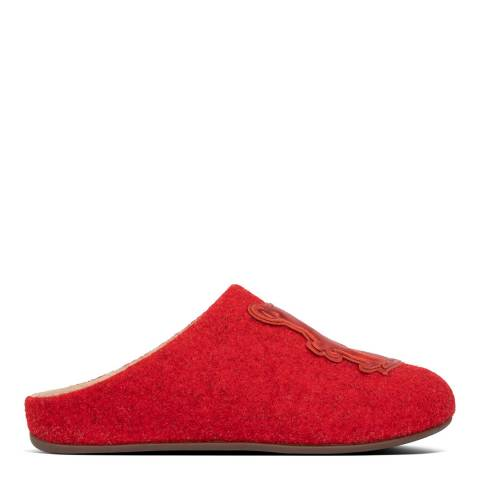 FitFlop Red Chrissie Mule Slippers