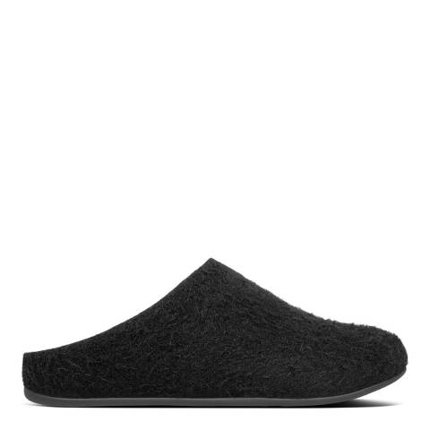 FitFlop All Black Chrissie Textured Slippers