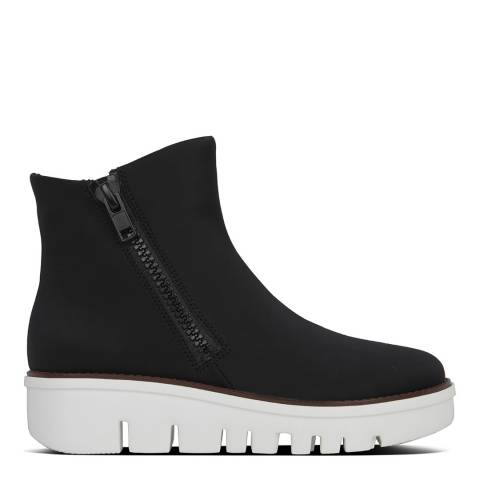 FitFlop Black Chunky Zip Ankle Boots