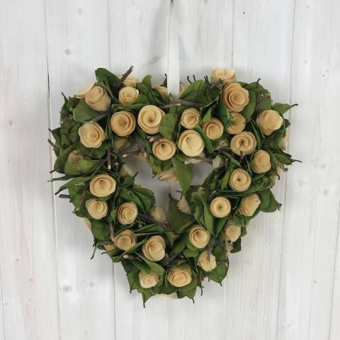 The Satchville Gift Company Heart Wreath With Flowers