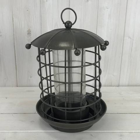 The Satchville Gift Company Copper Effect Bird Feeder With Glass Tube