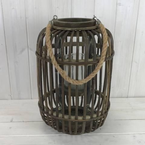 The Satchville Gift Company Small Wicker Lantern