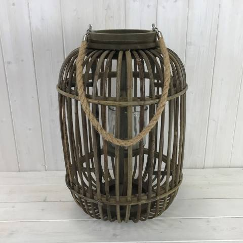 The Satchville Gift Company Large Wicker Lantern