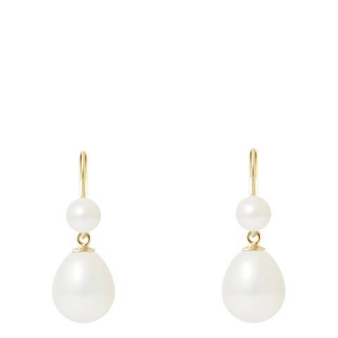 Mitzuko Natural White Pearl Earrings 9-10mm
