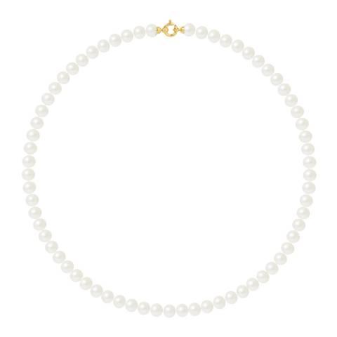 Mitzuko Natural White Pearl Necklace 8-9mm