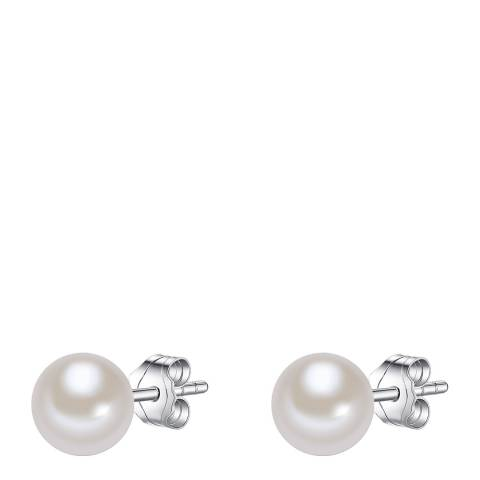 The Pacific Pearl Company Silver/White Pearl Earrings