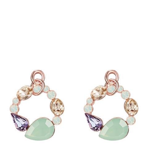 Lilly & Chloe Rose Gold/Lilac/Yellow Crystal Earrings