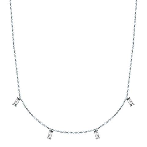 Glamcode Silver Crystal Necklace