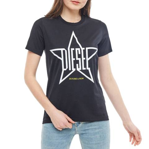 Diesel Black Sily Cotton T-Shirt