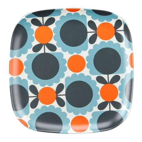 Orla Kiely Set of 6 Scallop Flower Sky Bamboo Side Plate