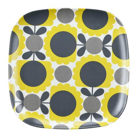 Orla Kiely Set of 6 Scallop Flower Dandelion Bamboo Side Plate