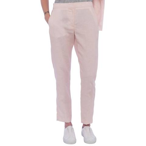 French Connection Pink Haiti Linen Trousers