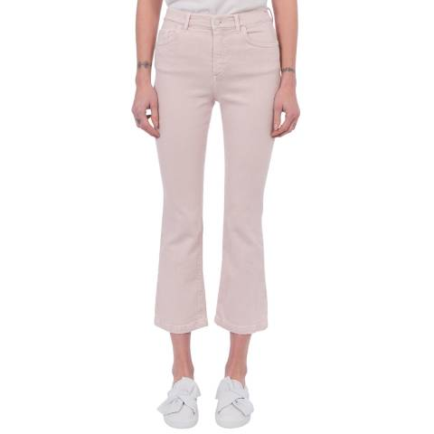 French Connection Pink Antique Kick Flare Jeans