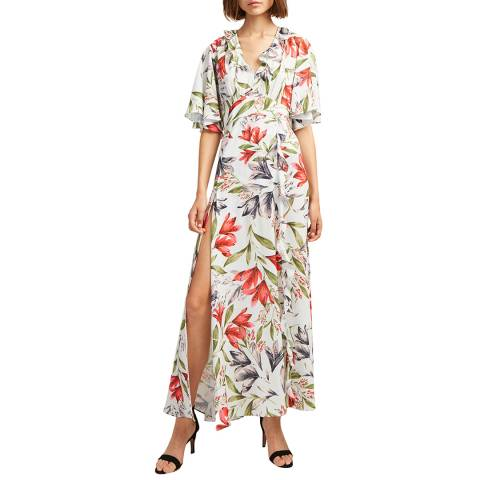 French Connection Multi Cadencia Floral Maxi Dress