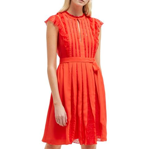 French Connection Bright Red Eva Solid Dress