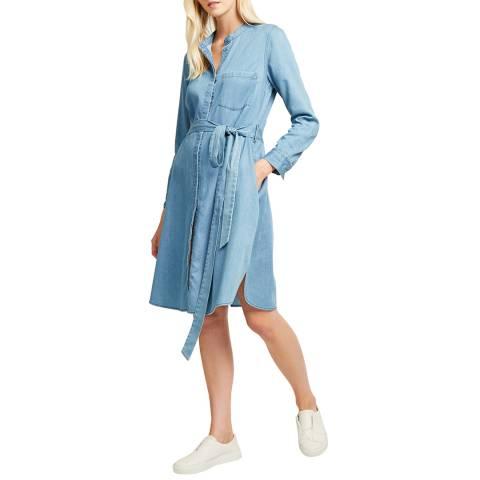 French Connection Blue Leondra Denim Wrap Dress