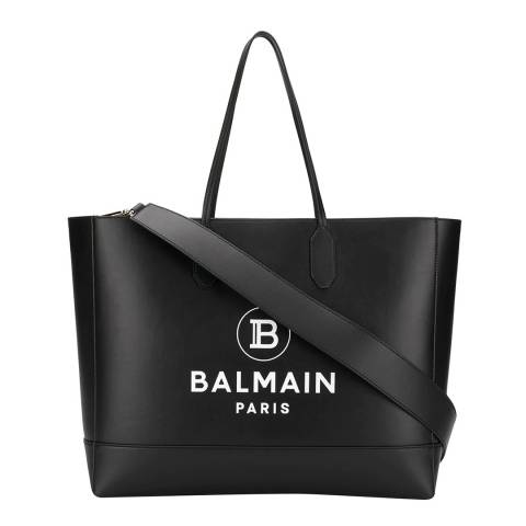Balmain Black Balmain Open Top Tote Bag