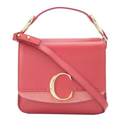 Chloe Scarlet Pink Chloe Small C Bag