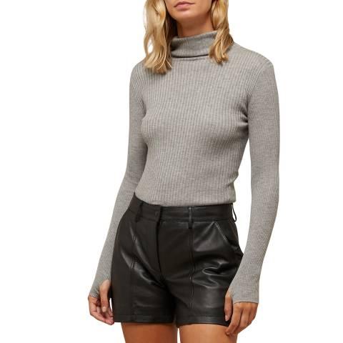 N°· Eleven Grey Wool Blend Fitted Turtleneck Jumper