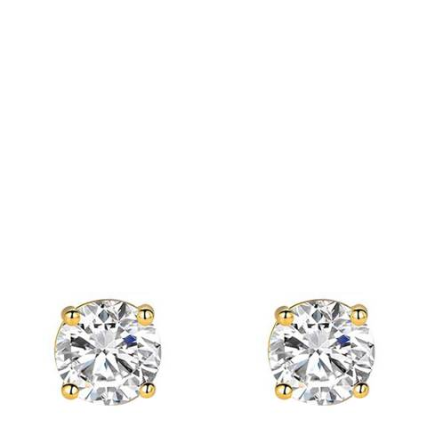 Stephen Oliver 18K Gold Plated Cz Stud Earrings